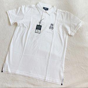 NWT Psycho Bunny 🐰 White Polo Shirt